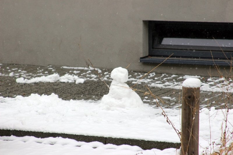 Schneemann zum Ersten
