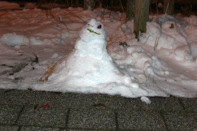 Schneemann zum Zweiten